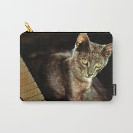 Black cat and piano Music was my first love Carry-All Pouch