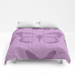 violet batterfly Comforters