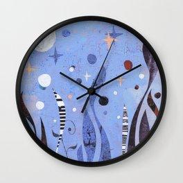 BLUE UNTITLED Wall Clock