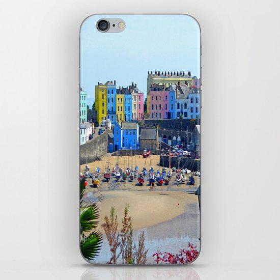 Tenby Harbour.Colour.Reflection. iPhone & iPod Skin