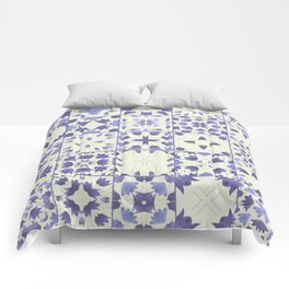 Flower Bell Azulejos Comforters