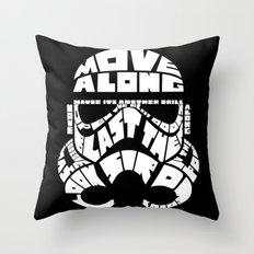 Stormtrooper in typography Throw Pillow