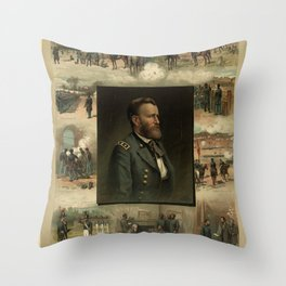 Grant from West Point to Appomattox Throw Pillow