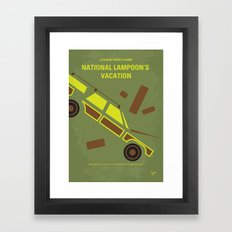 No412 My National Lampoon's Vacation minimal movie poster Framed Art Print