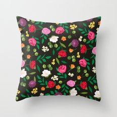 Glam Floral Throw Pillow