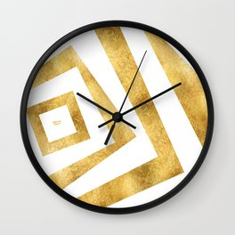ART DECO VERTIGO WHITE AND GOLD #minimal #art #design #kirovair #buyart #decor #home Wall Clock