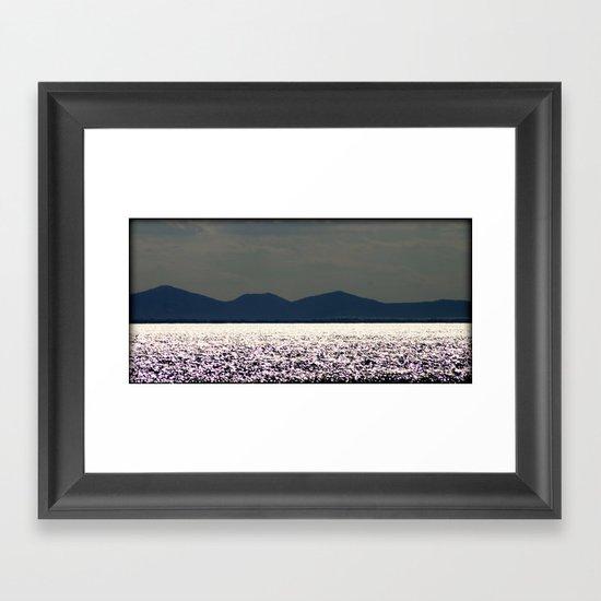 Glitter across the Bay Framed Art Print