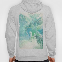 Breathe Blue Abstract Print Hoody