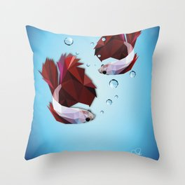 The Fighters - Daniela Mela Throw Pillow