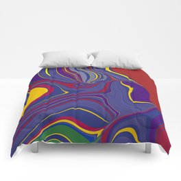CRAY - vivid rich jewel primary color block design Comforters