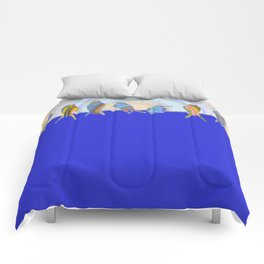 Bird Rise Minimal Oil Painting Comforters
