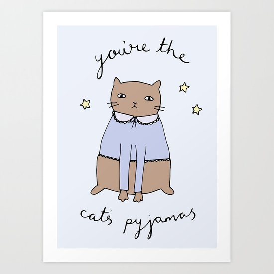 Cats Pyjamas Art Print