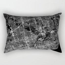 Toronto Black Map Rectangular Pillow