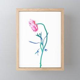 One Flower - Study 1. Profile Framed Mini Art Print