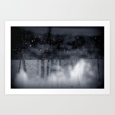 rain abstract Art Print