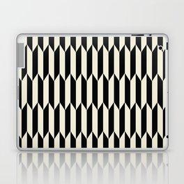 BW Oddities I - Black and White Mid Century Modern Geometric Abstract Laptop & iPad Skin