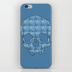 Vintage blue skull iPhone & iPod Skin
