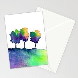 Hue Tree Trio Stationery Cards