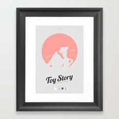 Toy Story - minimal poster Framed Art Print