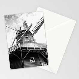 Original Dutch Windmill | Friesland, The Netherlands | Black & White | Travel Photography | Fine Art Photo Print Stationery Cards