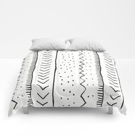 Moroccan Stripe in Cream and Black Comforters