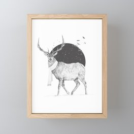 Winter is all around Framed Mini Art Print