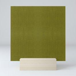 MID CENTURY MODERN . OLIVE LINEN Mini Art Print