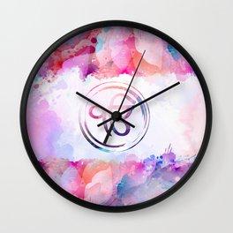 Watercolor Ek Onkar / Ik Onkar symbol Wall Clock