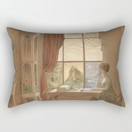 Jane Austen, Mansfield Park - the East Room Rectangular Pillow