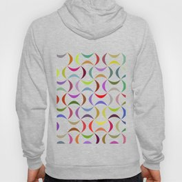 Abstract multicolor shapes pattern Hoody