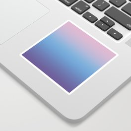 Ombre Pink Blue Ultra Violet Gradient Pattern Sticker