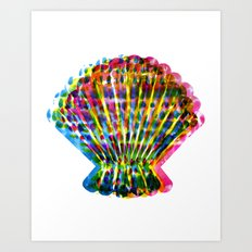 CMYK Fanshell Art Print