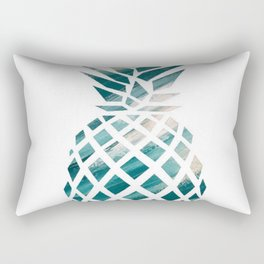 Tropical Teal Pineapple Rectangular Pillow