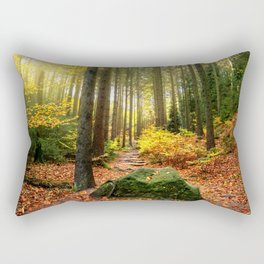 Path Through The Trees - Landscape Nature Photography Rectangular Pillow