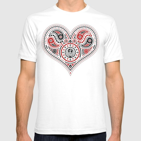 83 Drops - Hearts (Red & Black) T-shirt
