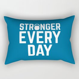 Stronger Every Day Gym Quote Rectangular Pillow