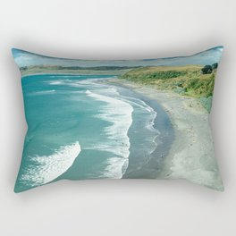 Raglan beach, New Zealand Rectangular Pillow