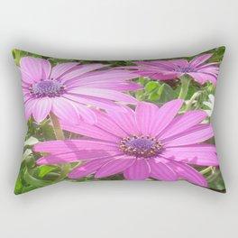 Purple And Pink Tropical Daisy Flower Rectangular Pillow
