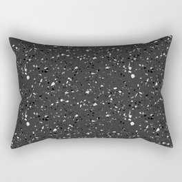 Black rubber flooring Rectangular Pillow