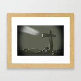 Inspired Cross Framed Art Print