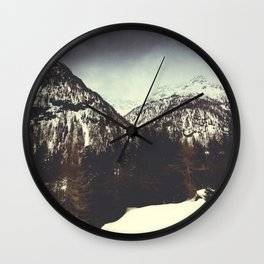 End of Winter in the Mountains Wall Clock