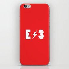 E3 red iPhone & iPod Skin