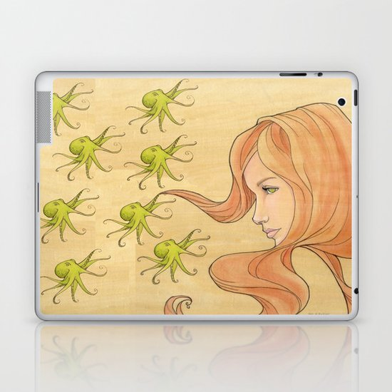 The Octopus Mermaid 1 Laptop & iPad Skin