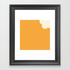 Creamsicle (First Bite) Framed Art Print