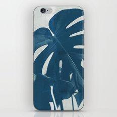 Blue Monstera #2 iPhone & iPod Skin