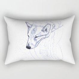Tristan in Blue Rectangular Pillow