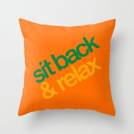 Sit Back & Relax - Citrus Throw Pillow