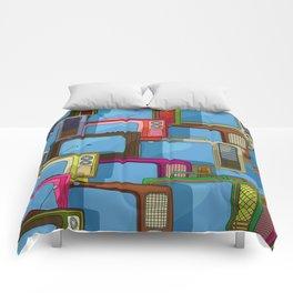Tv set pattern Comforters