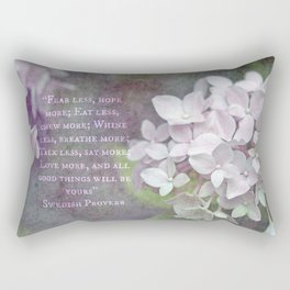 All Good Things Will Be Yours Rectangular Pillow