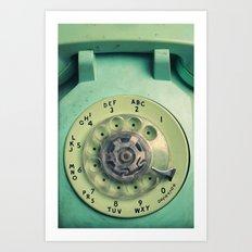 Rotary Telephone Art Print